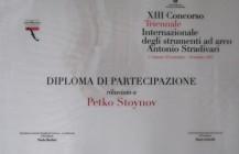 Diploma Petko Stoinov - Triennale Stradivari 2012